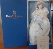 "Princess Diana Doll Royal Doulton Nisbet Heirloom The Princess of Wales 16"" New"