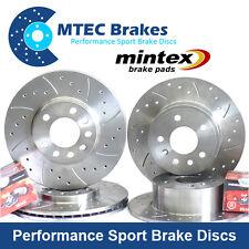 Mini R55 R56 280mm front Option Front Rear Drilled Brake Discs & Mintex Pads