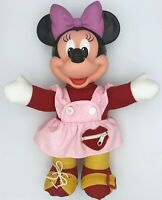 """Vintage 1989 Disney Learn to Dress Minnie Mouse 6 Teaching Activities Mattel 15"""""""