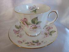 Vintage Duchess Bone China England Pink Flowers Cup & Saucer Set