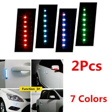 2x Car Door Side front/rear bumper Guards Scratch Solar LED Strobe Warning Light