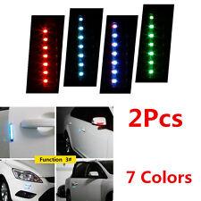 2x Car Door Side front/rear bumper Guards Scratch Solar LED Strobe Warning Light