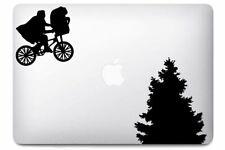 Sticker pour MacBook Pro Air - E.T - Noir ou Blanc - Fabriqué en France