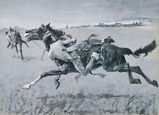 A Europeo of the plains Frederic remington indiens chariots CHEVAL B a3 01942