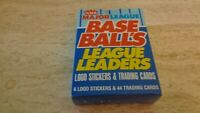 1988 Fleer Baseball League Leaders Boxed Set of 44 Cards + 6 Logo Stickers MT
