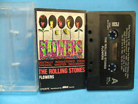 The Rolling Stones Flowers 1967 70's NM Cassette Tape Mick Jagger Keith Richards