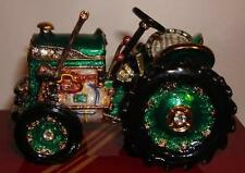 Leonardo Crystal Jewel Farm Tractor HIDDEN TREASURE TRINKET BOX Brand New LP1215