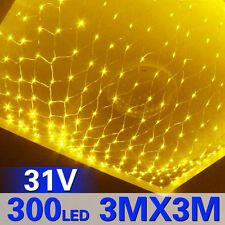 3M x 3M 300 LED Net Fairy Lights Warm White Ideal for Wedding Party