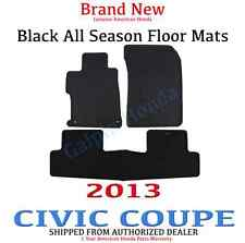OEM 2013 Honda Civic 2dr Coupe Black All Season Rubber Floor Mats 08P13-TS8-110A