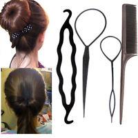 2 Set/8pcs Hair Clip Bun Maker Topsy Tail Braid Ponytail Maker Styling Tool ZY