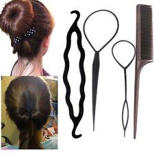 2 Set/8pcs Hair Clip Bun Maker Topsy Tail Braid Ponytail Maker Styling Tool 0n