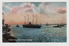 Liverpool,U.K.Ocean Liner & Ships in the River Mersey.Merseyside,c.1909