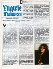 SP32 Clipping-Ritaglio 1992 yngwie Malmsteen L'uomo dietro la chitarra