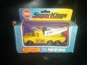 Matchbox Super Kings K6/11 Pick Up Truck, AA Breakdown Recovery (1974) Boxed