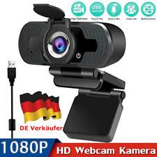 1080P HD Webcam Kamera USB für PC Laptop Desktop Windoms Autofocus mit Mic DE