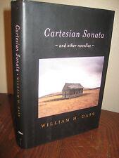 1st Edition CARTESIAN SONATA William H. Gass NOVELLAS First Printing FICTION