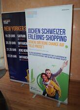 Easydisplay Roll Up Banner XL Stand pubblicitario 100 x 200 cm Schermo Tout