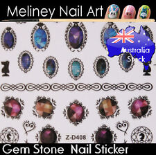 Gem Stone Diamond Nail Art Stickers decorations Craft Supplies Ruby Rhinestone