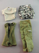 GI JOE T-SHIRT VEST ROMPER CARGO PANTS OLIVE LIGHT GREEN CAMOUFLAGE OUTFIT LOT 4
