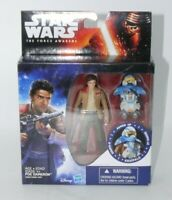"STAR WARS Force Awakens Poe Dameron ARMOUR UP HASBRO 4"" figure MIB"