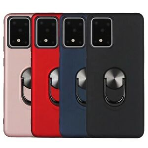 For Samsung S Series  Magnetic Armor Finger Ring Holder Stand Case Cover