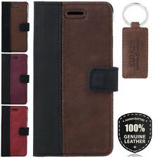 Surazo ® étui Cuir véritable Sac Housse Coque Flip Case Wallet Cover stand
