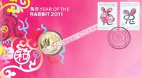 PNC Australia/Christmas Island 2011 Lunar New Year RABBIT Perth Mint $1 Coin