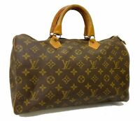 Auth LOUIS VUITTON Monogram Speedy 35 Hand Bag M41524 OLD LV 57710996