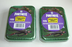 Panini Fortnite Serie 1 Trading Cards - 2 x Pocket Tin Box mit 4 Booster - Neu