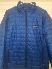 Men's Patagonia nano puff jacket large Blue