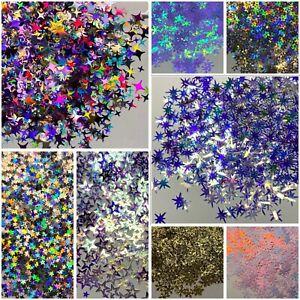 Nail Art Glitter Shapes Autumn Christmas 2g Bag Spangle Snowflakes Leaves