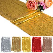 "Sequin Glitter Table Runner Cloth Wedding Banquet Party Decor 12""x72''/108""/118"""