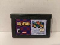 Dr Mario / Puzzle League Nintendo GameBoy Advance GBA Cart Only Authentic Z9
