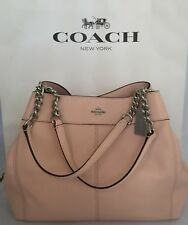 COACH F28998 Lexy Shoulder Bag Pebble Leather With Chain Strap SV/Light Pink NWT