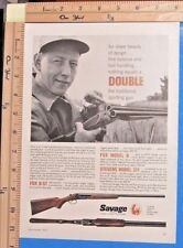 1957 SAVAGE Model 311 & FOX B-ST Double Barrel shotguns gun Vtg Print Ad 9655
