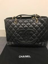 AUTHENTIC Chanel Black Caviar Classic Grand Shopper Tote GST Shopping Bag