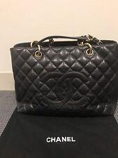 AUTHENTIC Chanel Black Caviar Classic Grand Shopper Tote GST Shopping Bag