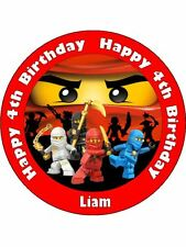 LEGO NINJAGO 19CM REAL KOPYKAKE EDIBLE ICING IMAGE BIRTHDAY CAKE TOPPER