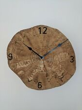 Handcrafted Wall Clock, Handmade Wooden Rustic Clock . Battery Operated