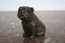 Bronzeskulptur einer Bulldogge Dekoration für Haus und Garten