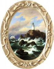 LIGHTHOUSE Dollhouse Picture - Framed Miniature Fine Art - MADE IN AMERICA