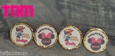 @**100 CUSTOM MADE MINNIE MOUSE BIRTHDAY KISS CANDY FAVOR LABELS**@