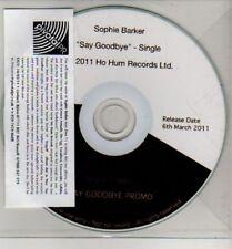 (CJ260) Sophie Barker, Say Goodbye - 2011 DJ CD