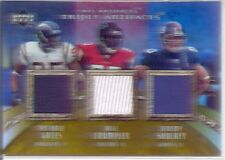 gates crumpler shockey 3x triple game used jersey patch tight ends #/75 2007