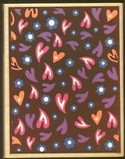 HEARTS DOTS DESIGN Background Darice LARGE NEW Wood Mount CRAFT RUBBER STAMP