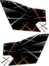 DECAL GRAPHICS POLARIS OEM DOORS RZR 570/800/900 RZR XP DOOR ORANGE MADNESS