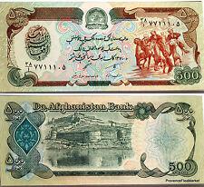 AFGHANISTAN billet neuf 500 AFGHANIS periode TALIBAN Pick60C  Cavalier 1991