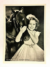 "Shirley Temple 1937 Union Dresden Film Star Ser 9 5""X7"" Cigarette Photo Card"