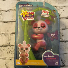 NEW WowWee Interactive Fingerlings Glitter Pink Baby Panda POLLY