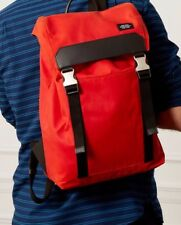 NWT!! JACK SPADE WAXWEAR ARMY BACKPACK $368 RED ORANGE